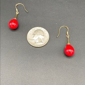 Gold over Silver 1.5 Coral Earrings  $65